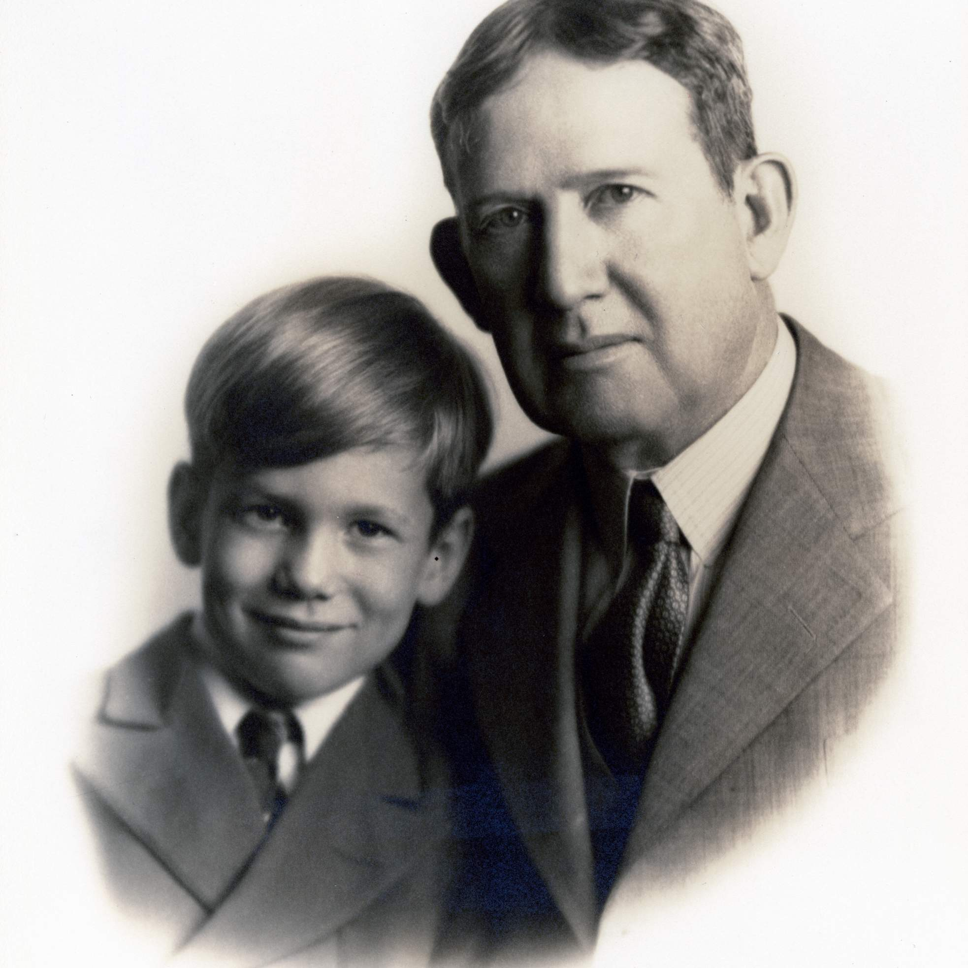 Bill Hobby with his father, Will Hobby
