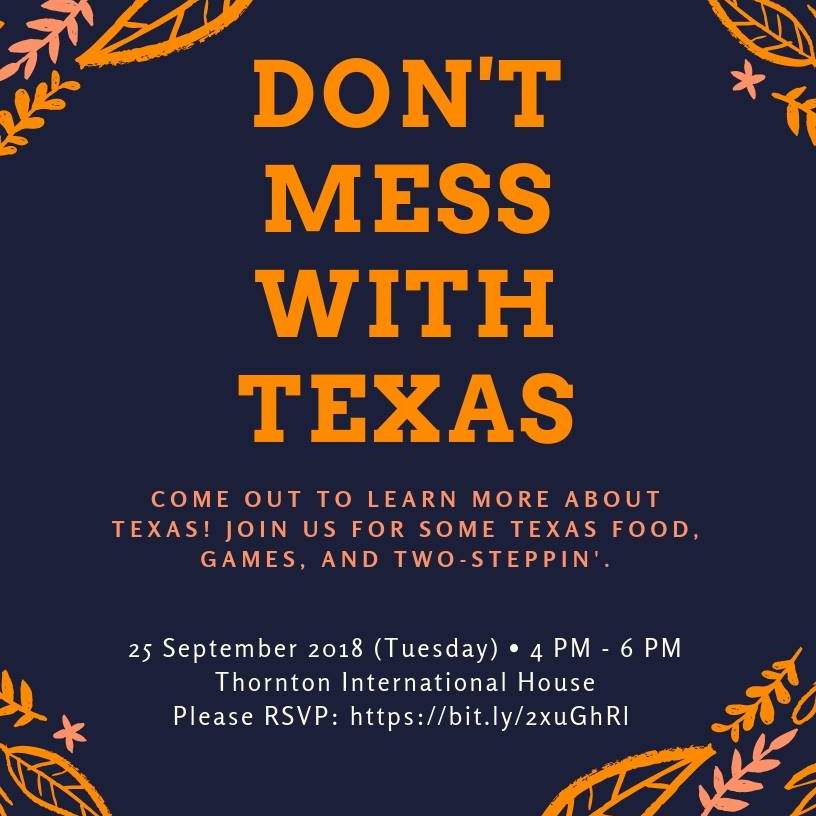 Fall 2018 Don't Mess With Texas Night Flyer. September 25, 2018