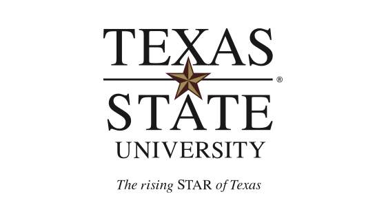 Texas State primary logo vertical