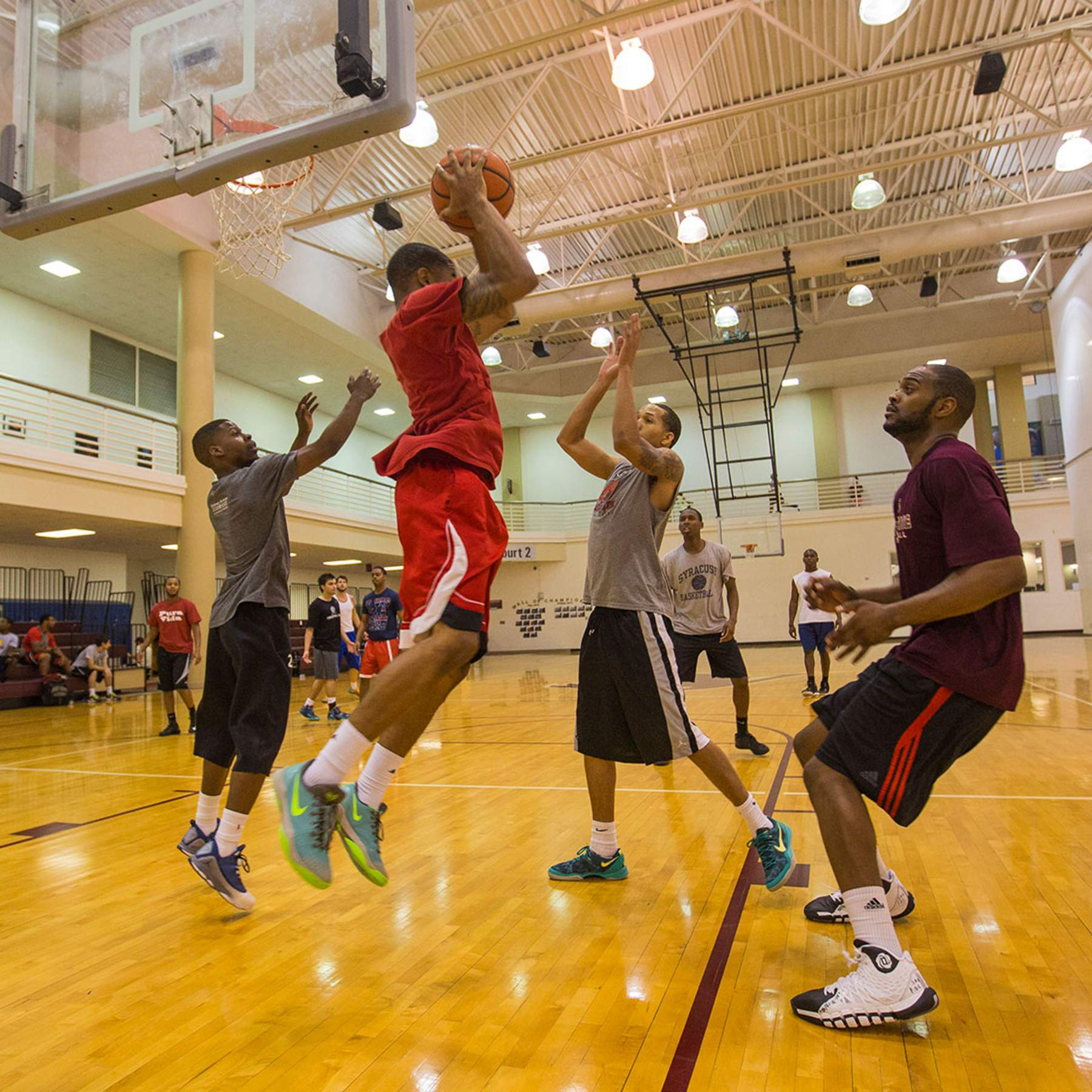 basketball players at the recreation center