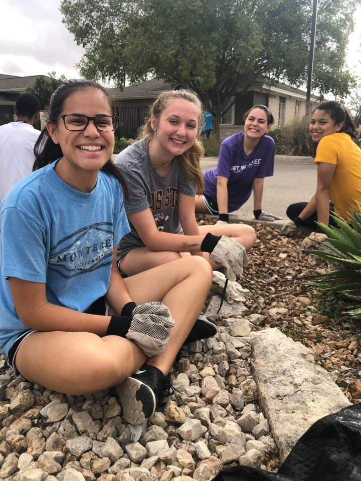 SVC members attend the October Day of Service event at Hays-Caldwell Women's Center.