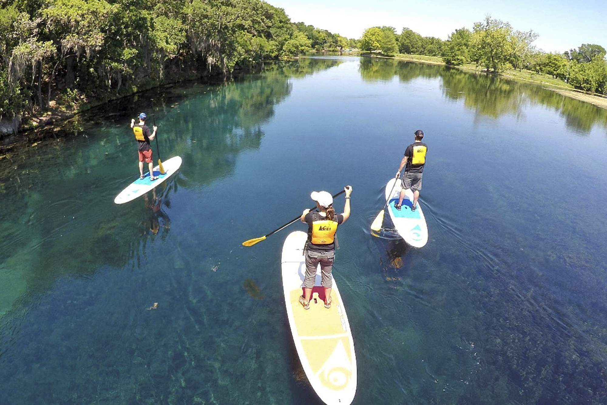 paddling tour at Spring Lake