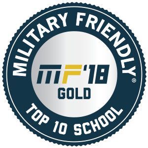 Military Friendly Top 10 School: Rank #1 in Tier 2 Research Institutions