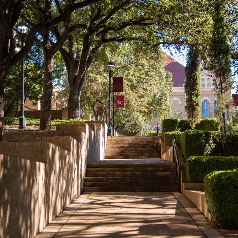 walkway stairs to Old Main
