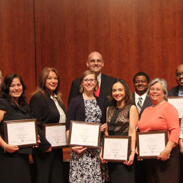 Sam Houston State University CPM Graduates with Don Moore (far left), Director of the Sam Houston State University CPM Program in Houston, Texas