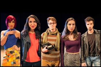The Texas State University cast of Rent