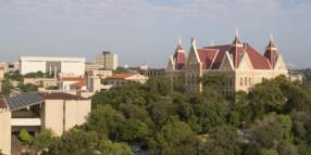 Aerial view of Texas State University