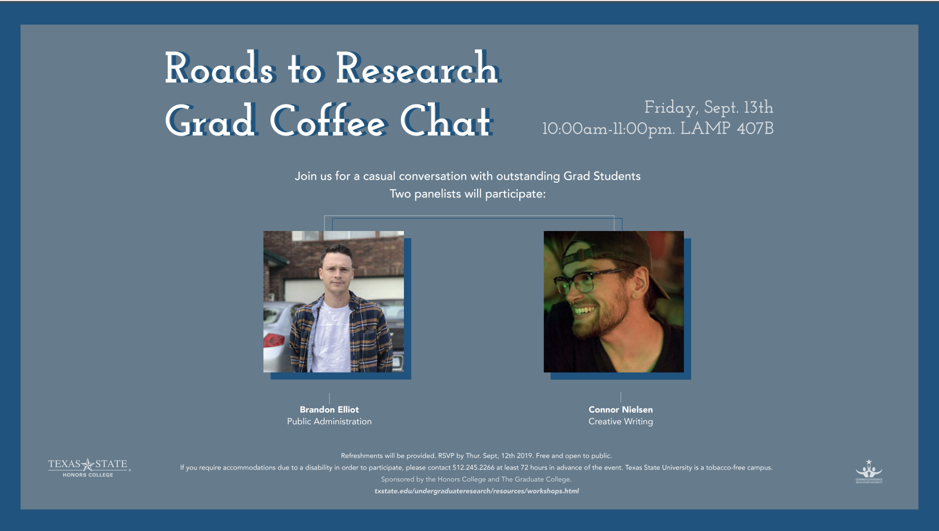 Poster for Grad Student Coffee Event