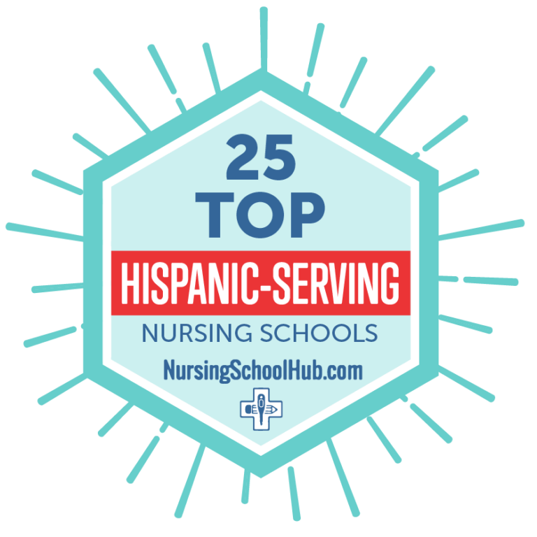 Badge for Top 25 Hispanic-Serving Nursing Schools-2020
