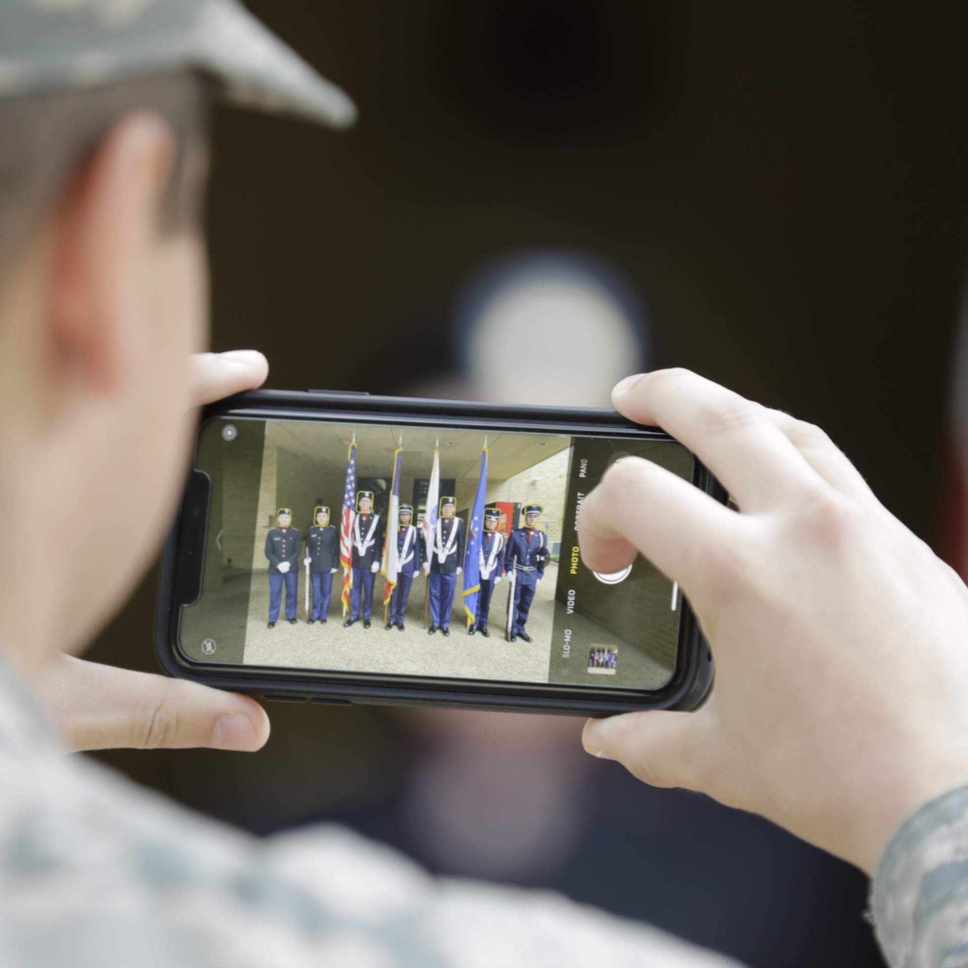 Photo of Air Force/Army ROTC members