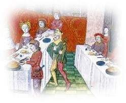 Portrait of a medieval banquet