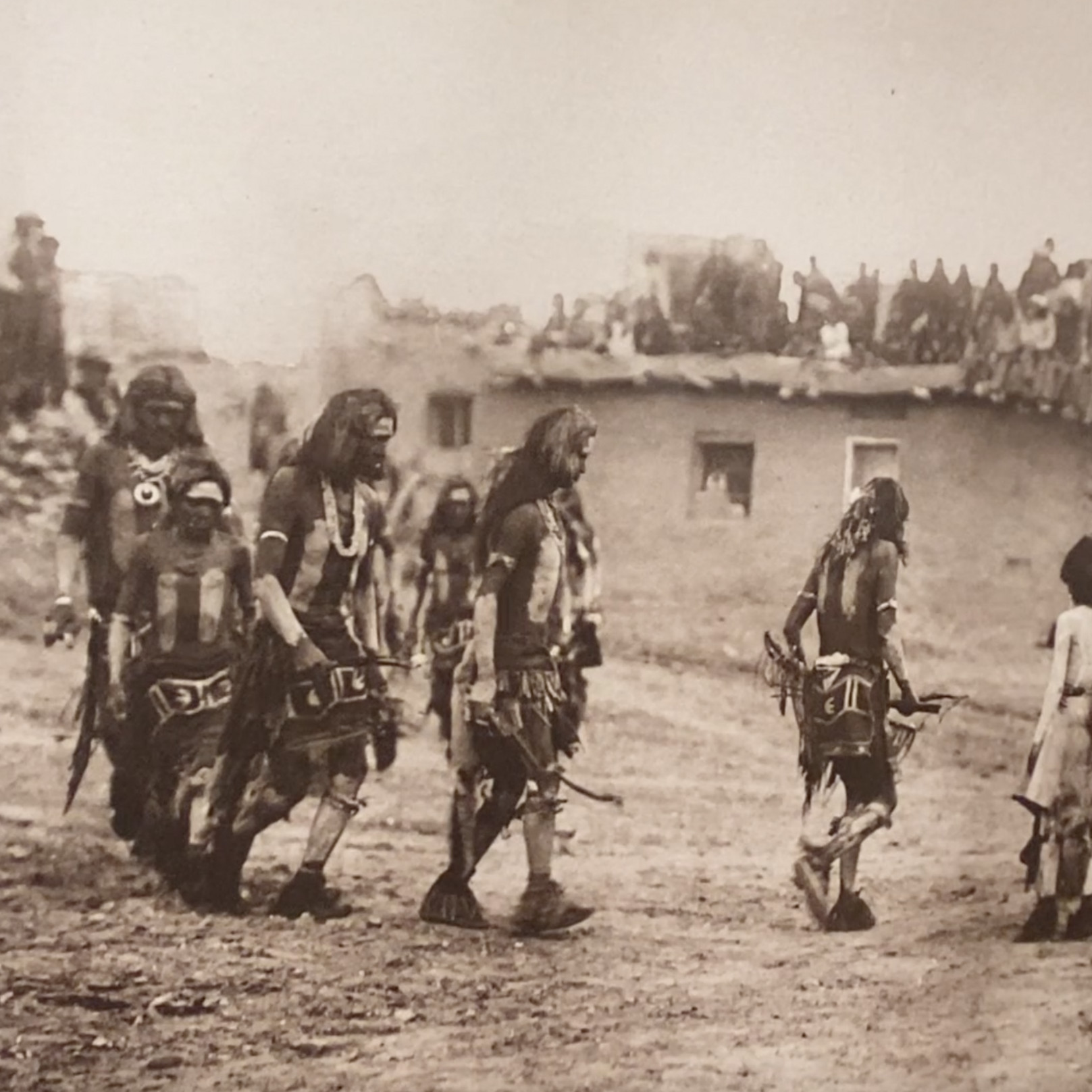 Photo of a Native American gathering
