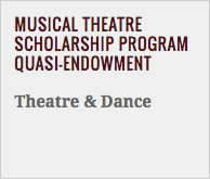 Musical Theatre Scholarship Program Quasi-Endowment