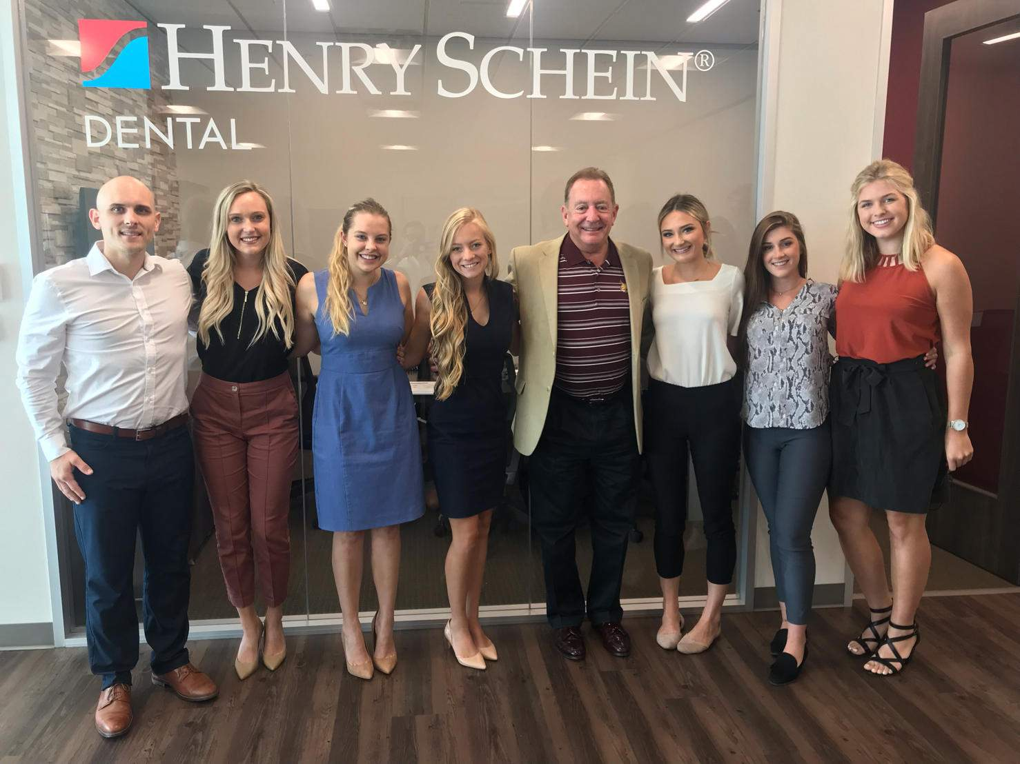 students interning at Henry Schein