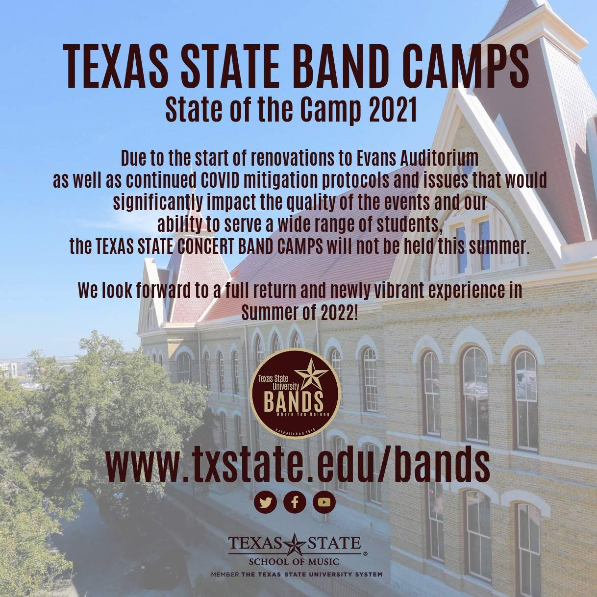 2021 Band Camp Notice