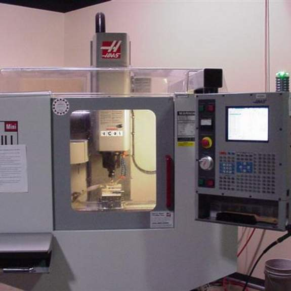 Image, HAAS 3-axis mill.