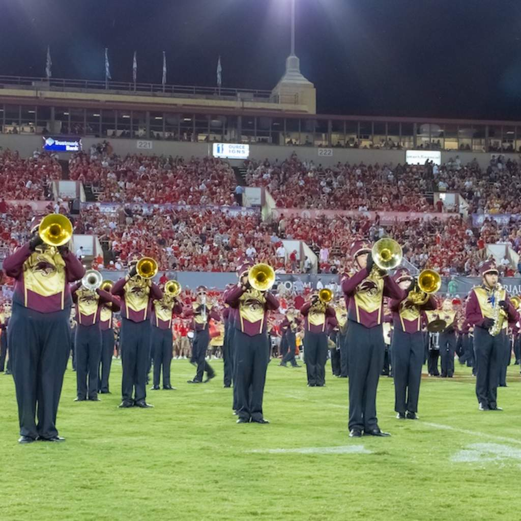 The BMB performs at halftime at the University of Houston