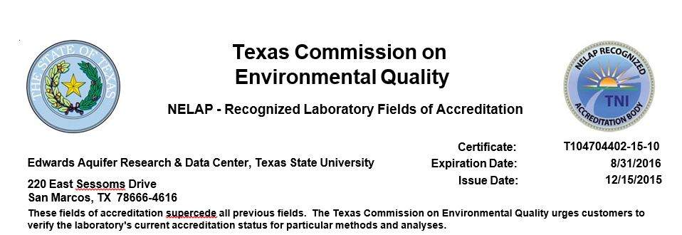 nelac accredited lab