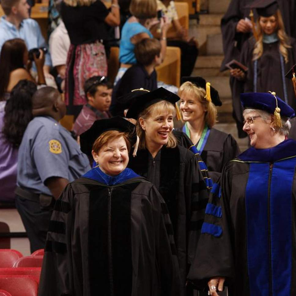 faculty walking through ceremony