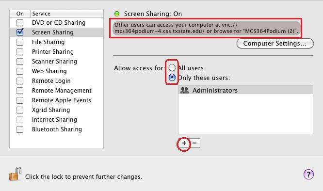 How to Remotely access a Mac from a Mac using Screen Sharing
