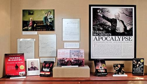 Cormac McCarthy exhibit items pictured