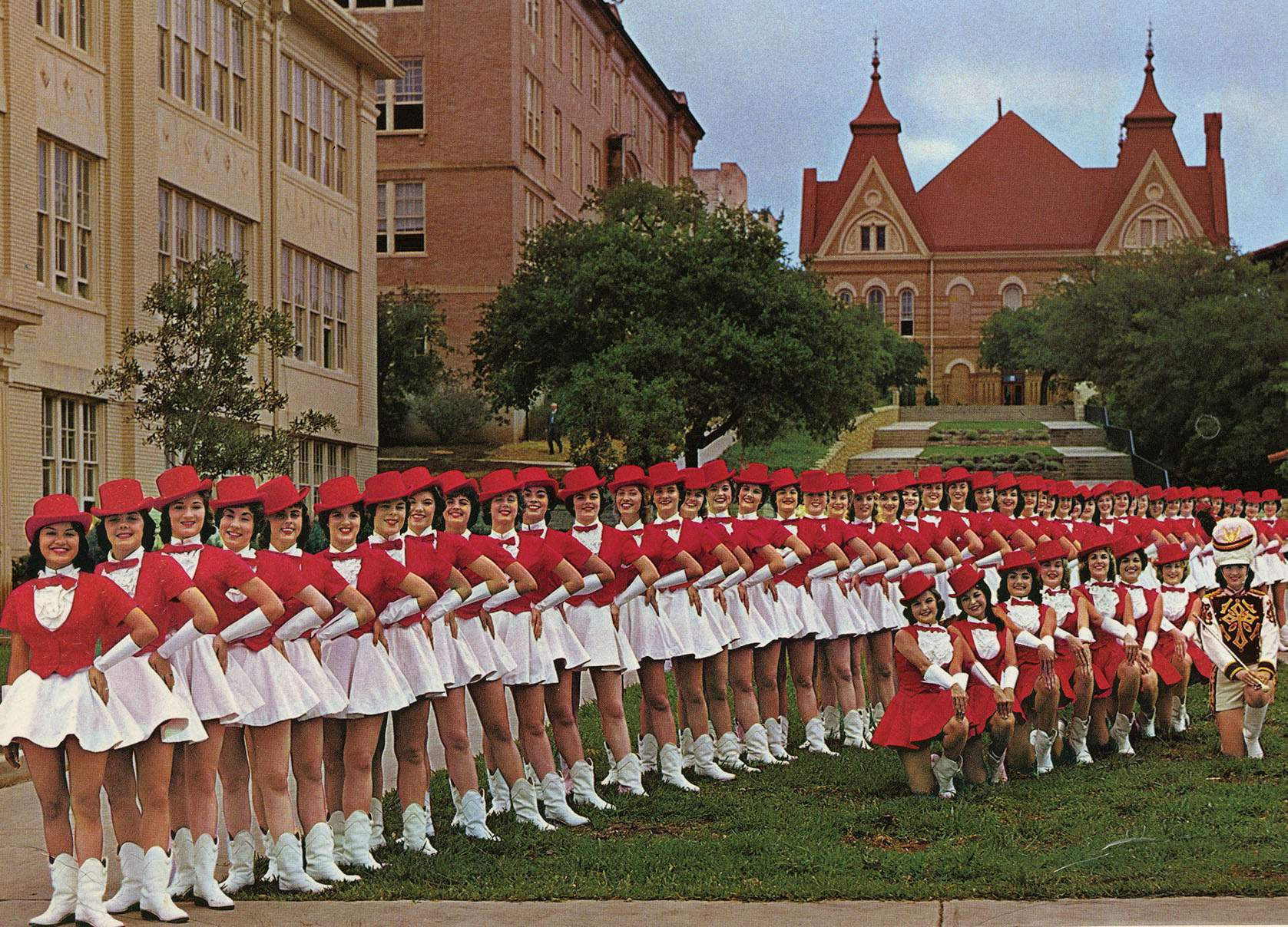 line of strutters in front of old main