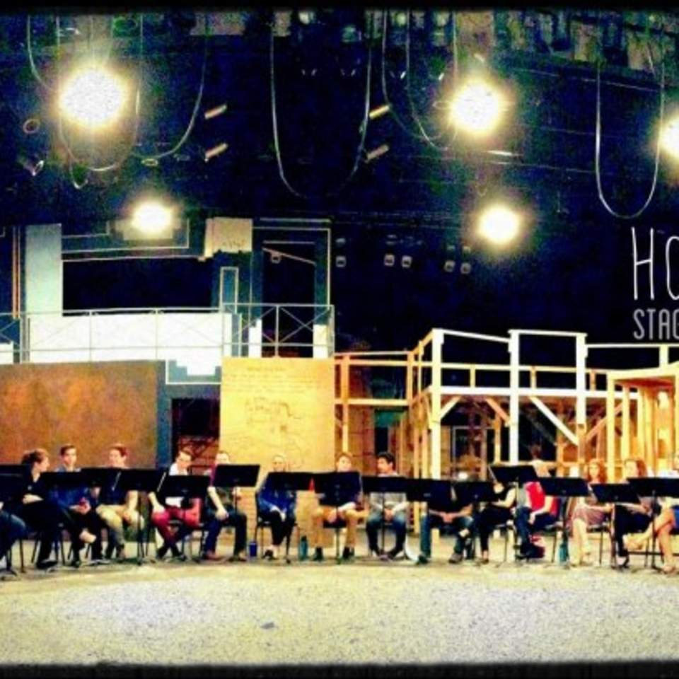 Cast of workshop reading of Mark Hollmann's new show Hooray For Iceboy